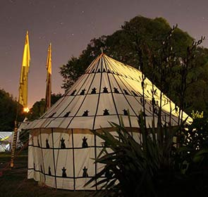 Beduin Tent Backside at Night on Kawai Purapura Plains