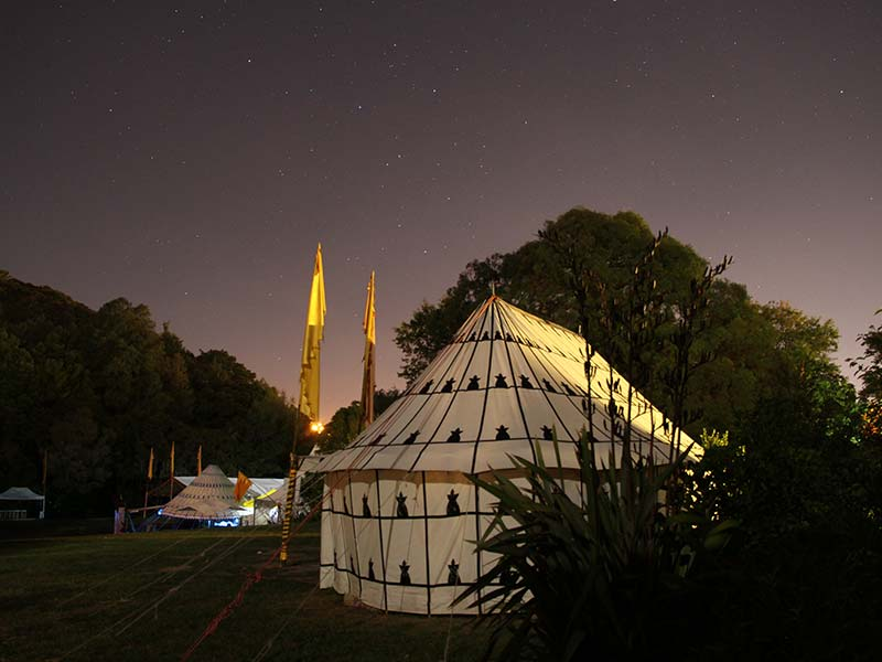 Beduin Tent Backside at Night on Kawai Purapura Plains