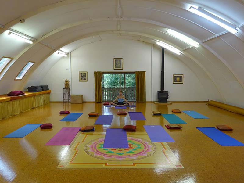Shanti Yoga Studio - Setup for Yoga Class