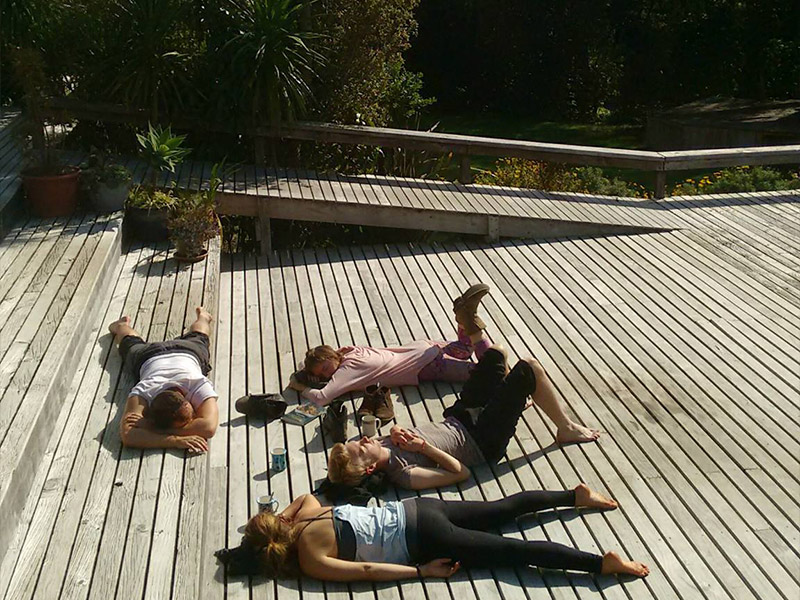 Sunbathing at Prema Deck