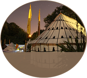 Bedhouin Tent at Kawai Purapura Plains
