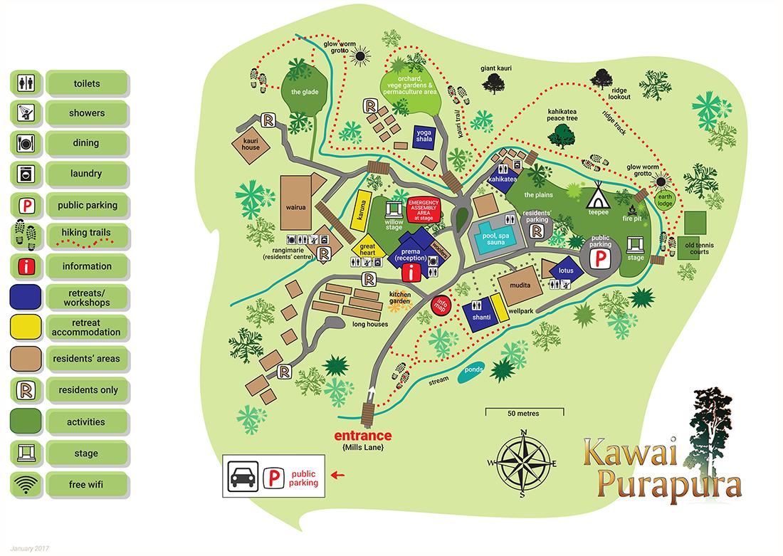 Kawai Puraoura Retreat Centre Map