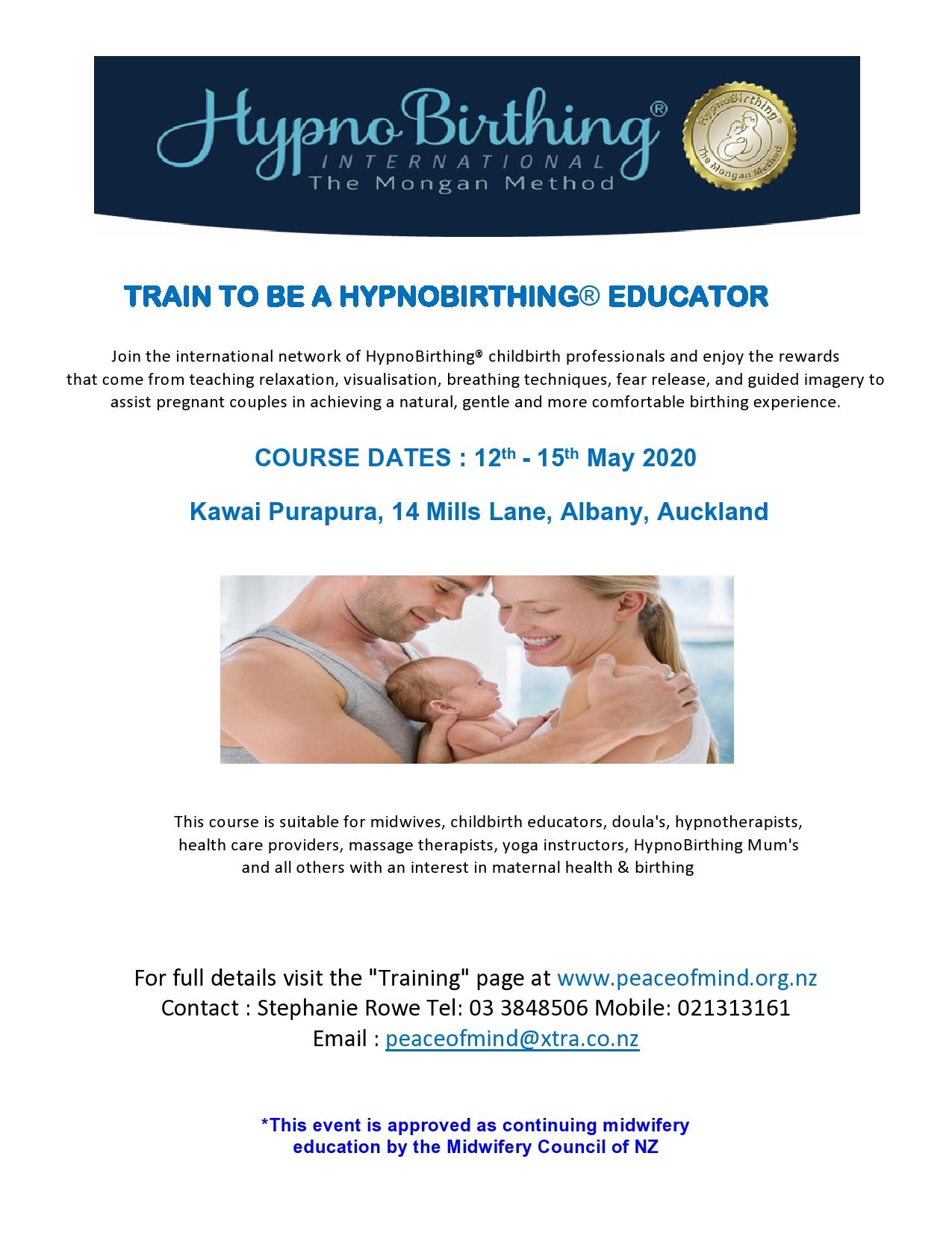 HypnoBirthing Educator Course • Kawai Purapura